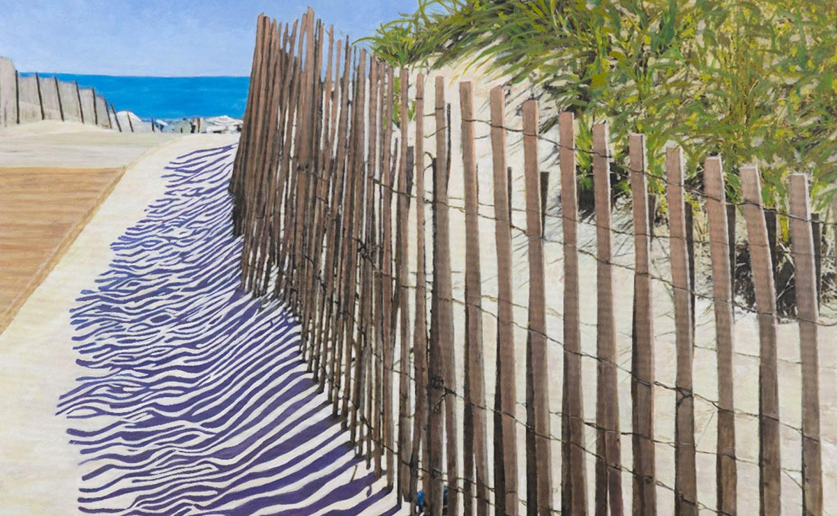 dune road original painting by artist bonnie perlin